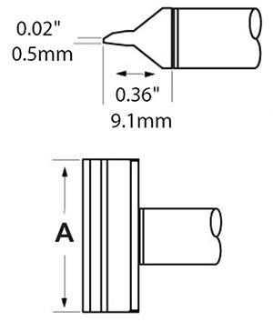 CxV 刀片式烙铁头