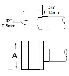 RxP 返修烙鐵頭 - 刀片式 (BLADE)