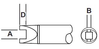 RxP 返修烙鐵頭 - 槽型 (SLOT)